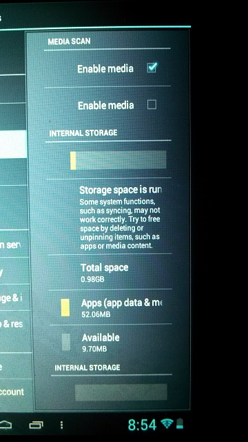 Storage space running out xolo mobile