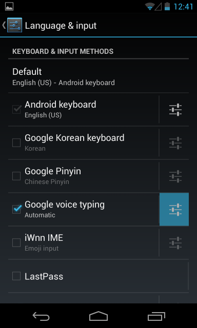 No Voice Input Button On Keyboard Android Forums At