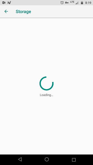 Storage Screen NEVER loads since updating to Android 8 Oreo