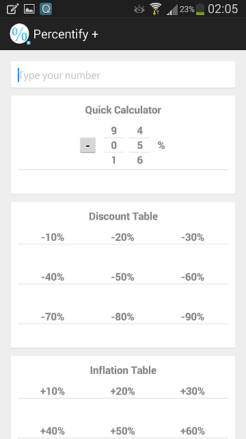 [App] Percentify, fast & stylish, best percentages calculator!-screenshot_2014-02-22-02-05-45.png