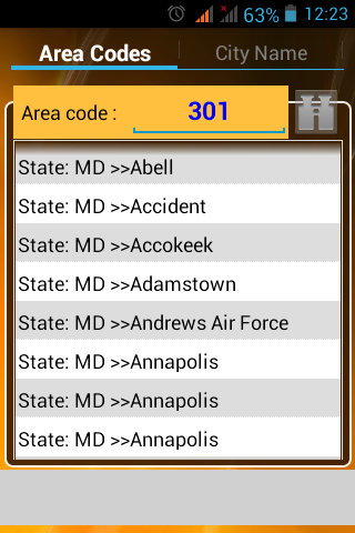 [app][free]USA Area Code App-areacode1.png