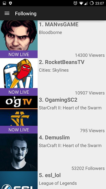 [APP][FREE] Ace for Twitch - a new Twitch Client incl. VOD/Chat/Following support-screenshot_2015-03-26-23-07-34.jpg