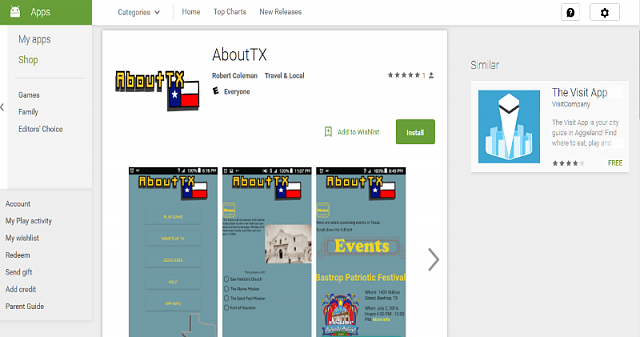 App about Texas-googleplaymyapp.png