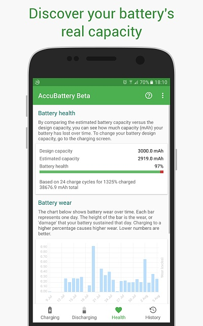New Battery App - Measure your real battery capacity