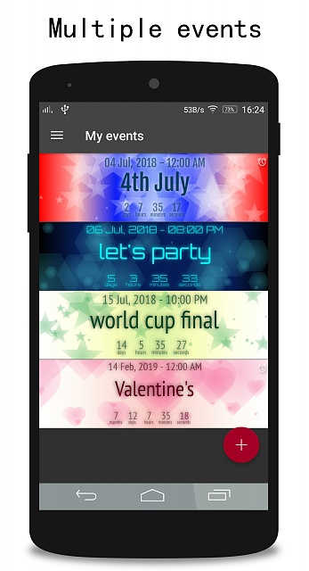 [APP][FREE] 365 My Events - Countdown, reminder, time lapse. All you need for managing events-phonepreview1_1.jpg
