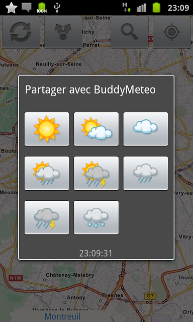 new social weather android application-snapshot_paris_partager.png