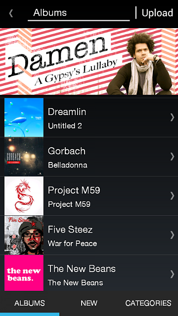 A music distribution service Ringtonium is now available in Google Play-screenshot-music-library.png