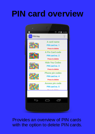 [APP][FREE][2.3.3+]  The PIN Key - a pin code reminder.-listmode5cards-phone-text.png