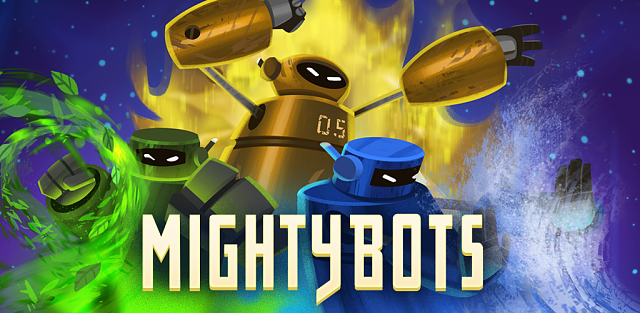 [FREE][PUZZLE][GAME] Mighty Bots - Robot Fighting game-featuregraphic_opt21024x500.png