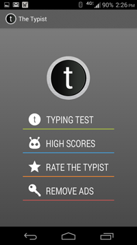 [APP][FREE][4.0+] The Typist: Quick Typing Tests-screenshot1.png
