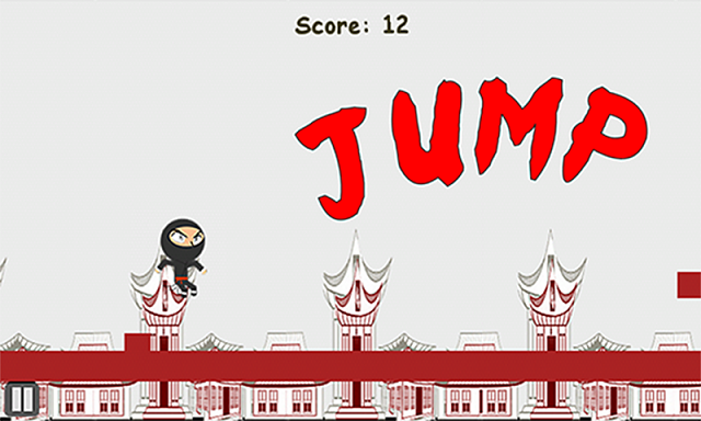 "[FREE] Side Scrolling, Obstacle avoidance ninja game ""Quick Ninja""-promo-jump.png"