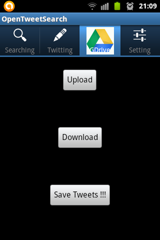 [FREE APP][OPEN SOURCE] Open Tweet Search integrated with Google Drive and Translate-savingtogoogledrive.png