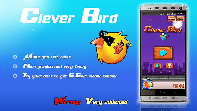 [GAME][FREE] Clever bird - new flappy bird games 2014-screen_1.png