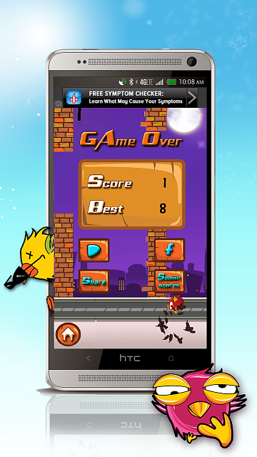 [GAME][FREE] Clever bird - new flappy bird games 2014-screen_2.png