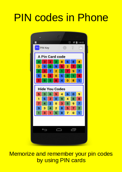 [APP][FREE][2.3.3+]  The PIN Key - a pin code reminder.-main2cards-phone-text.png