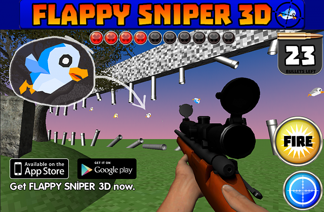FLAPPY SNIPER 3D - Hunt Silly Birds With Serious Sniper Rifle.-promo_pic_1024x669.png