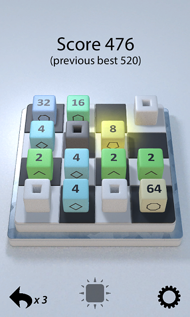 [Free][Game][4.0+] Cube Conquest 3D - A fresh take on 2048-480x800_casualgameplay.png