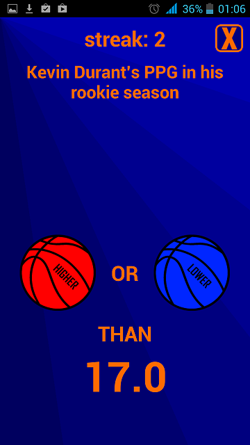[Free][Android]Higher or Lower: Basketball [Game]-screenshot_2014-07-11-01-06-11.png