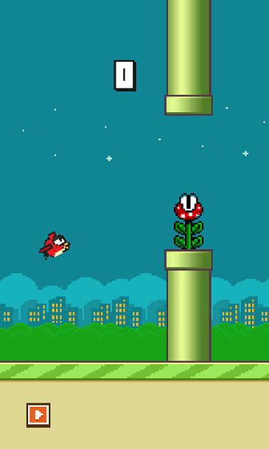 [Free] Flappy bird impossible with moving pipes, pirahna plants and more ...-516357000.png