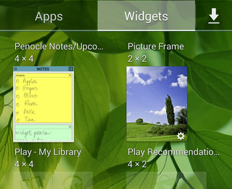 Penocle - New calendar/notepad/organizer application for Galaxy Note devices-add-widgets.png