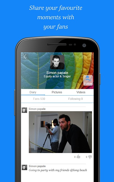 Twinecast, the network of talented people-androidscreenshot5-2.jpg