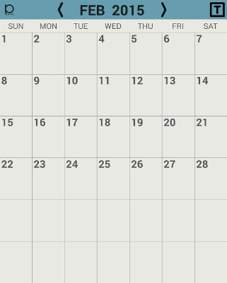 Penocle - New calendar/notepad/organizer application for Galaxy Note devices-widget_month_preview.png