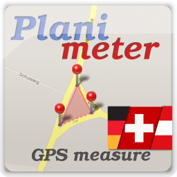[PAID APP][POST FROM DEVELOPER] Planimeter - area measure. All kinds of measurements on Google Maps.-plm_ico_256_de.png