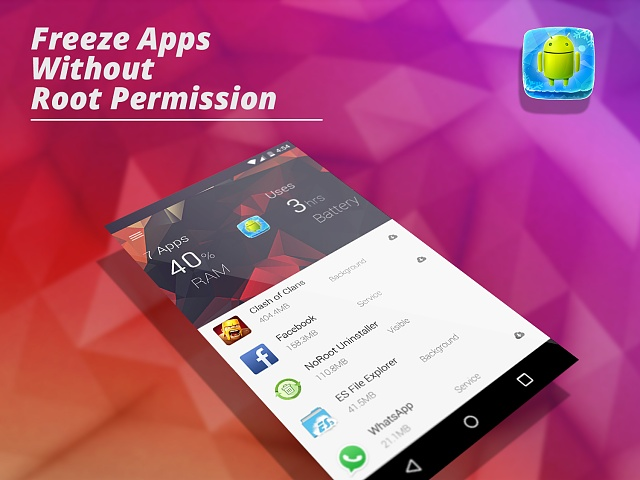 APP][FREE] App Freezer : Freeze background apps and save