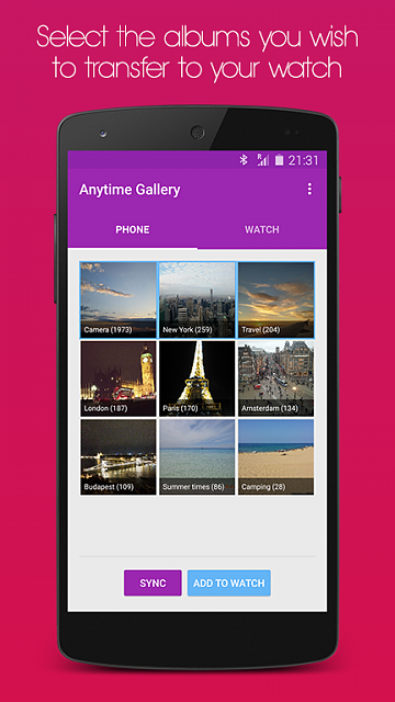 [App][Free] Anytime Gallery for Wear (display your photos on your watch)-screenshot1.png
