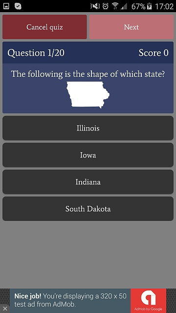 [GAME][FREE][2.3+] US States Quiz - learn and test your knowledge-phone_free2.jpg