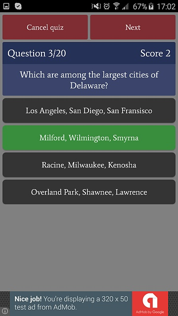 [GAME][FREE][2.3+] US States Quiz - learn and test your knowledge-phone_free3.jpg