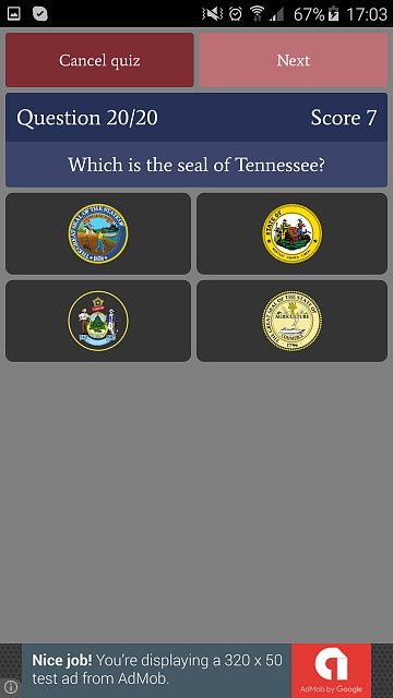 [GAME][FREE][2.3+] US States Quiz - learn and test your knowledge-phone_free5.jpg