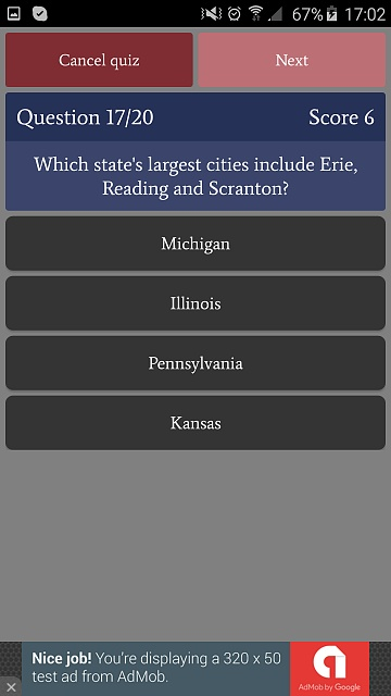 [GAME][FREE][2.3+] US States Quiz - learn and test your knowledge-phone_free6.jpg