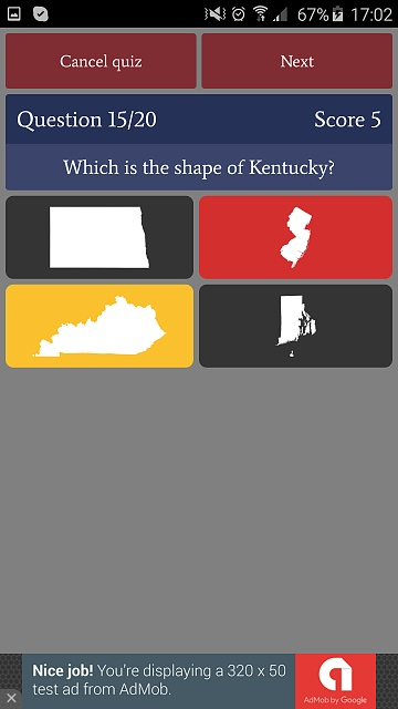 [GAME][FREE][2.3+] US States Quiz - learn and test your knowledge-phone_free7.jpg