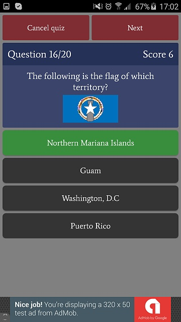 [GAME][FREE][2.3+] US States Quiz - learn and test your knowledge-phone_free8.jpg
