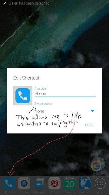 How to use the shortcut/activity gesture in Nova Launcher?  Anyone w/ coding knowledge?-screenshot_2016-01-20-21-12-13.jpg