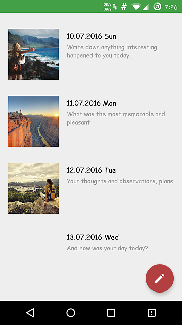 [App] [4.0.2+] Memories - Simple and free diary with a password lock.-screenshot_2016-07-13-19-26-27.png