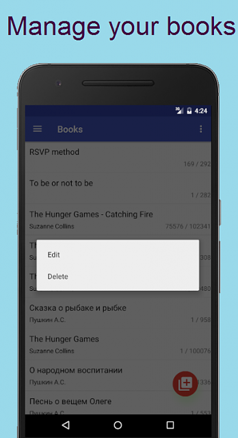 [APP] [GIVEAWAY] Fast Reader. Spritz tech. COUPONS for PRO version !-manage_books.png