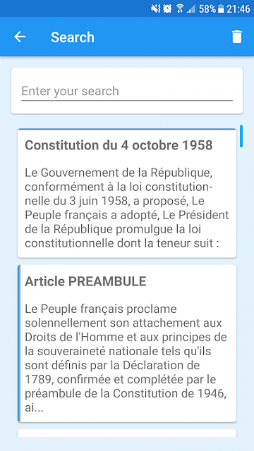 [App] [4.0+] Discover the French Constitution-search_en.png