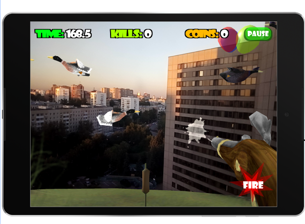 Innovative duck-shooting  Android app  'Mad ducks AR'-1.png
