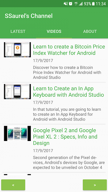 [App] [4.0+] Learn to make Android Apps with the SSaurel's Channel Official App-videos1_en.png