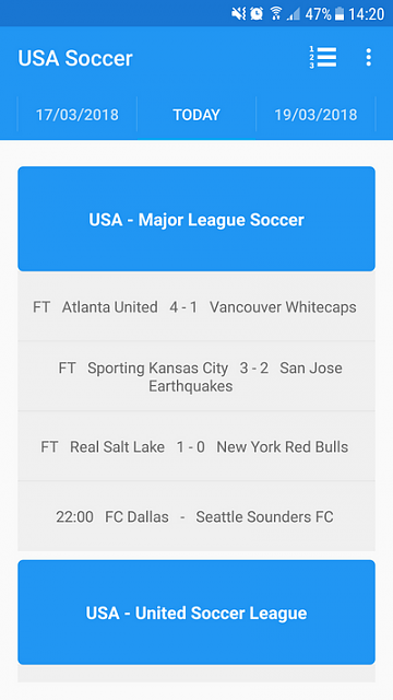 [App] [4.0+] Follow the USA Major League Soccer in live on Android-main1_en.png