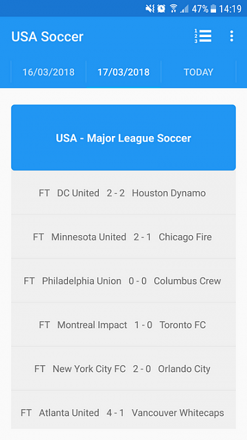 [App] [4.0+] Follow the USA Major League Soccer in live on Android-main3_en.png