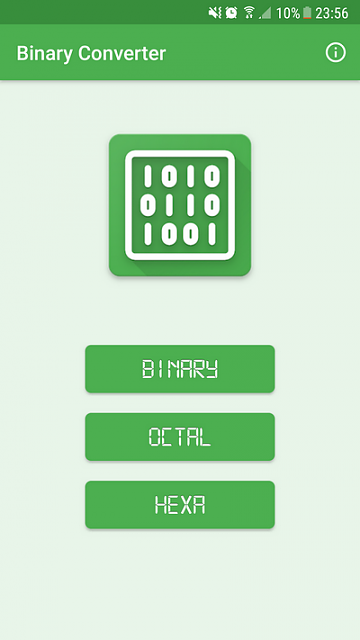 App] Convert your Texts in Binary, Octal or Hexadecimal