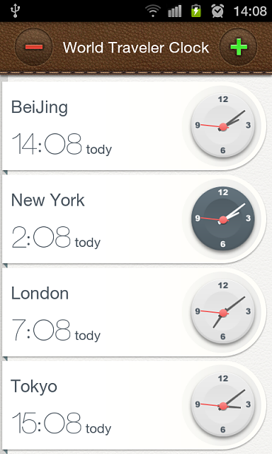 [Free][App]World Travel's Clock-setting-interface.png