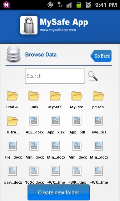 MySafeApp - Hide your private Pictures, Videos, Documents and Passwords-5-browsedata.jpeg