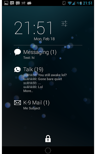AnyDash - Show notifications from any app in your DashClock Widget-example_pro_2.png