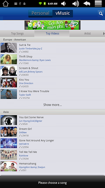 vMUSIC - THE BEST MUSIC APP FOR ANDROID-screen1.png
