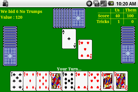 [APP] Five Hundred Card Game-screen1.png