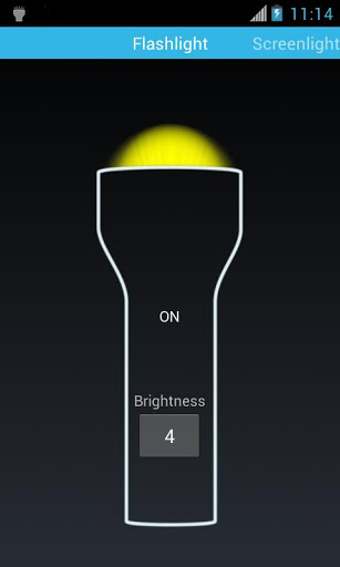 [APP][2.1+][FREE] Flashlight Mini 1.4-main_lighted.jpg